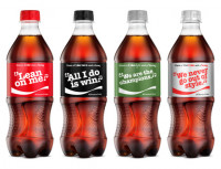 "Coca-Cola sings a different tune with return of ""Share a Coke and a Song."" (Image via Business Wire)"