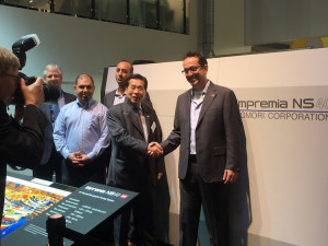 4over Inc. has signed an agreement at drupa 2016 to be the first adopter of the Komori Impremia NS40, a sheetfed inkjet press equipped with Landa Nanography.