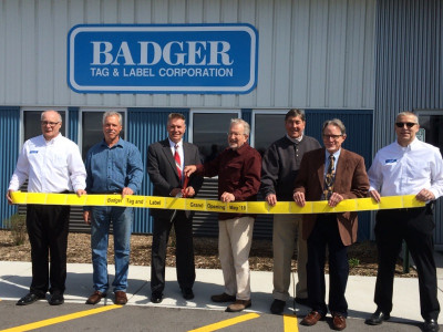 Badger Tag & Label had a ribbon cutting ceremony for its new facility on May 12.