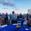 Print+Promo's fearless leader and publisher, Jim Harvie addresses the crowd during the Distributor Connect – Fort Lauderdale, Fla. Welcome Reception.