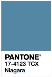 Pantone selected Niagara as the No. 1 color of spring 2017.